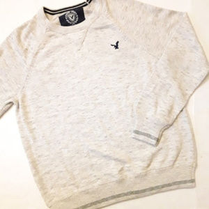 AMERICAN EAGLE | Heather Gray Crewneck Sweater